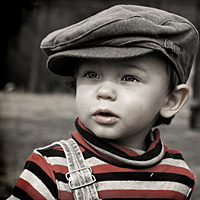 Portrait of boy wearing a hat